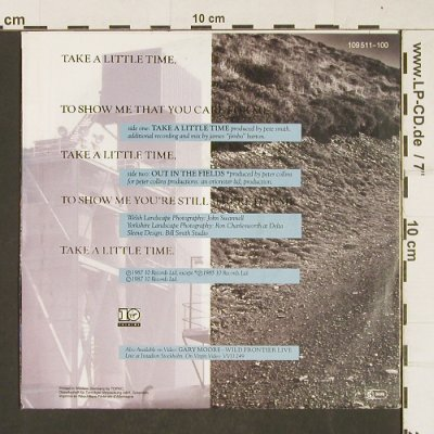 Moore,Gary: Take A Little Time/Out in theFields, Virgin(109511-100), D, 1987 - 7inch - T297 - 3,00 Euro