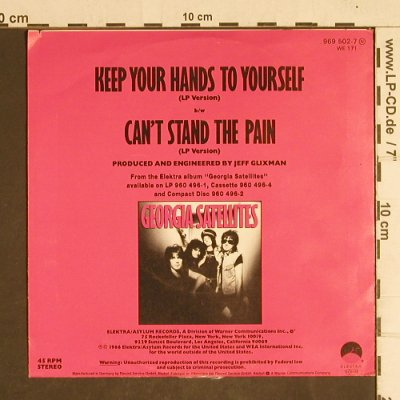 Georgia Satellites: Keep Your Hands To Yourself, m-/vg+, Elektra(969 502-7), D, 1988 - 7inch - T4317 - 2,50 Euro
