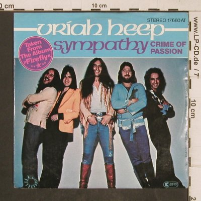 Uriah Heep: Sympathy / Crime of Passion, Bronze(17 600 AT), D, 1977 - 7inch - T5084 - 4,00 Euro