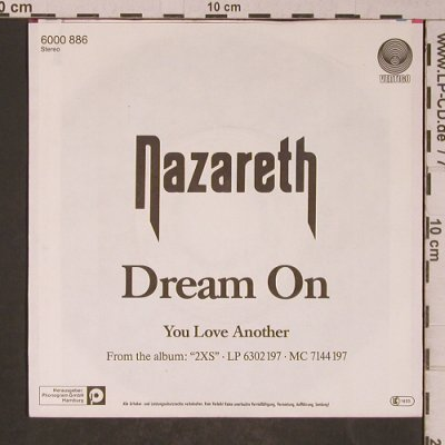 Nazareth: Dream On / You Love Another, Vertigo(6000 886), D, 1982 - 7inch - T5240 - 3,00 Euro