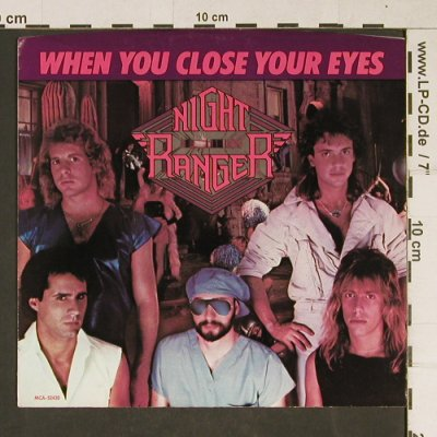 Night Ranger: When You Close Your Eyes, MCA,SampleCopy(MCA-52420), US, 1983 - 7inch - T976 - 2,50 Euro