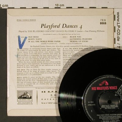 Playford Country Dance Players: Playford Dances 4, stoc,vg+/m-, His Masters Voice(7EG 8666), UK,6Tr.,  - EP - T1097 - 2,50 Euro