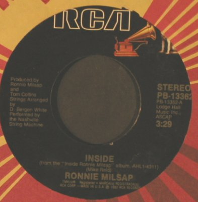 Milsap,Ronnie: Inside / Carolina Dreams, FLC, RCA(PB-13362), US, 1982 - 7inch - T2268 - 1,50 Euro