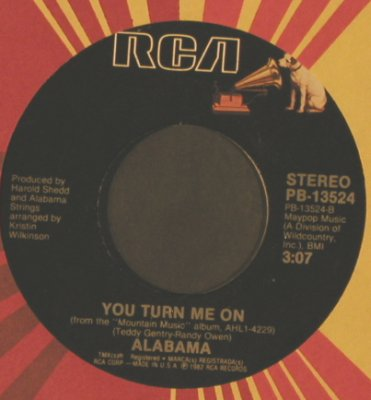 Alabama: The Closer You Get / You Turn Me On, RCA(PB-13524), US, FLC, 1983 - 7inch - T2336 - 2,50 Euro