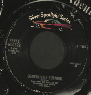 Rogers,Kenny: Lucille/Something's Burning, EMI Am.(X 1154), US,FLC,Ri, 1977 - 7inch - T2960 - 3,00 Euro