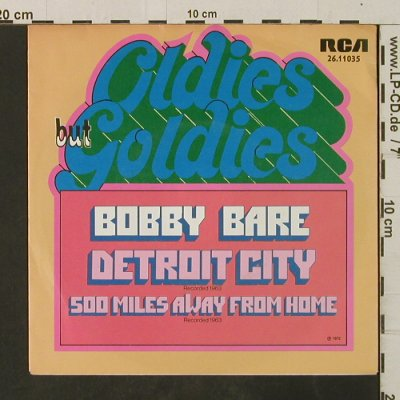 Bare,Bobby: Detroit City / 500 Miles Away...,Ri, RCA(26.11035), D, 1972 - 7inch - T3026 - 2,00 Euro