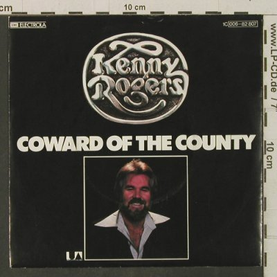 Rogers,Kenny: Coward of the Country, UA(006-82 807), D, 1980 - 7inch - T3433 - 2,50 Euro