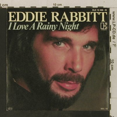 Rabbitt,Eddie: I Love A Rainy Night/Short Road To, Elektra(ELK 12 498-N), D, 1980 - 7inch - T3491 - 2,00 Euro
