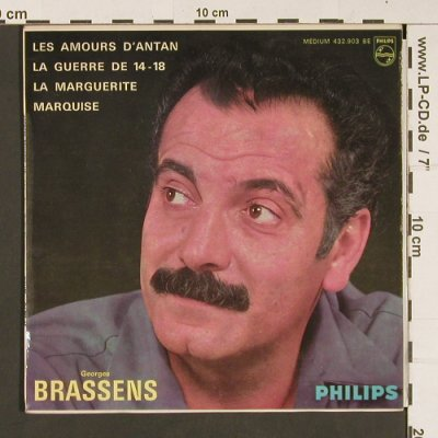 Brassens,Georges: Les Amour d'Antan+3, m-/vg+, Philips Medium(432.903 BE), F, Mono,  - EP - S8830 - 7,50 Euro