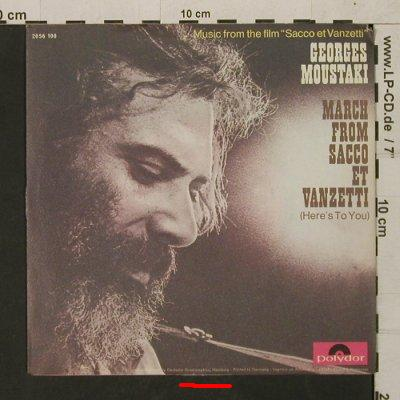 Moustaki,Georges: March from Sacco et Vanzetti, Polydor(2393 019), D, m /vg+, 1971 - 7inch - T1587 - 3,00 Euro