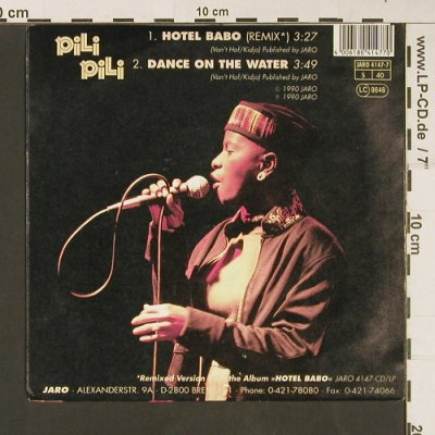 Pili Pili: Hotel Babo / Dance on the Water, Jaro(4147-7), D, 1990 - 7inch - S9165 - 2,50 Euro