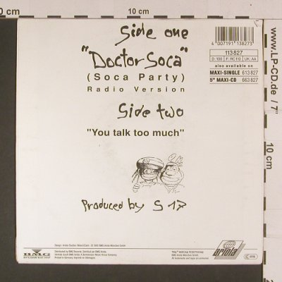 Riddim Posse: Doctor Soca(soca party), Ariola(113 827), D, 1990 - 7inch - S7993 - 2,50 Euro