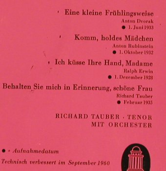 Tauber,Richard - XV: Unvergänglich Unvergessen,Folge157, Odeon(O 41 321), D,  - EP - S8540 - 3,00 Euro