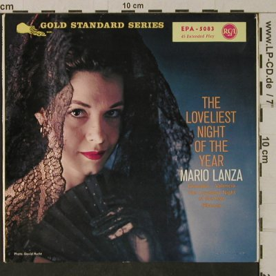 Lanza,Mario: The Loveliest Night of the Year, RCA-ONLY EP Sleeve(EPA-5083), UK, 1959 - Cover - T2072 - 2,00 Euro