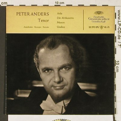 Anders,Peter: Aida, Afrikanerin, Manon, Undine, D.Gr.(EPL 30 292), D, 1958 - EP - T372 - 3,00 Euro