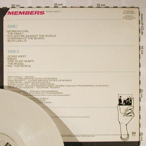 Members: Going West, White Vinyl, CO, Line/Albion(ALLP 4.00031 J), D, 1985 - LP - H2381 - 4,00 Euro