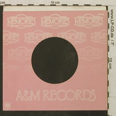 A&M: Memories - Firmenlochcover, AM(AM-86), US,  - Cover - T3999 - 1,50 Euro
