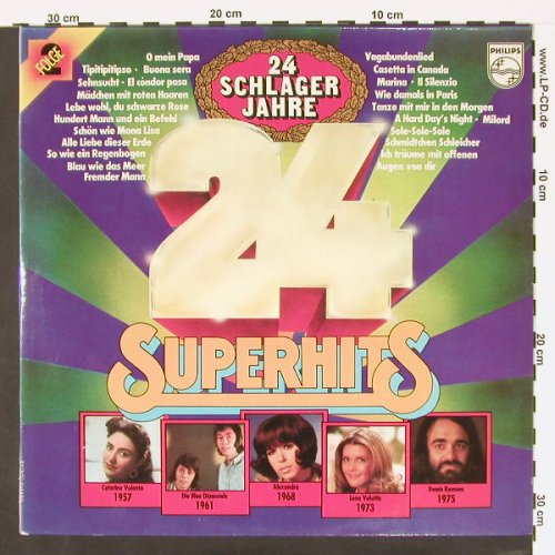 V.A.24 Schlagerjahre: 24 Superhits, Foc, Philips(6612 120), D,  - 2LP - C162 - 3,00 Euro