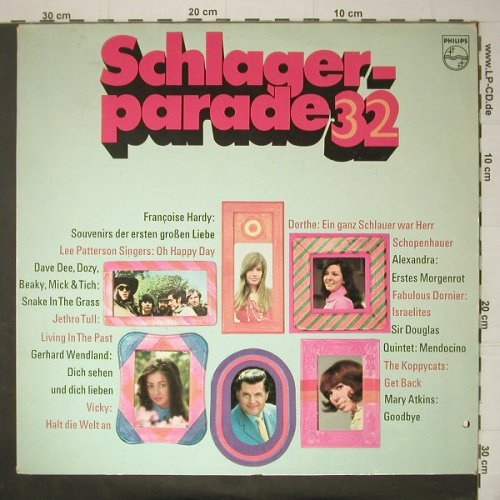 V.A.Schlagerparade 32: 12 Tr., Co, Philips(850 076 PY), D,  - LP - C6038 - 5,00 Euro