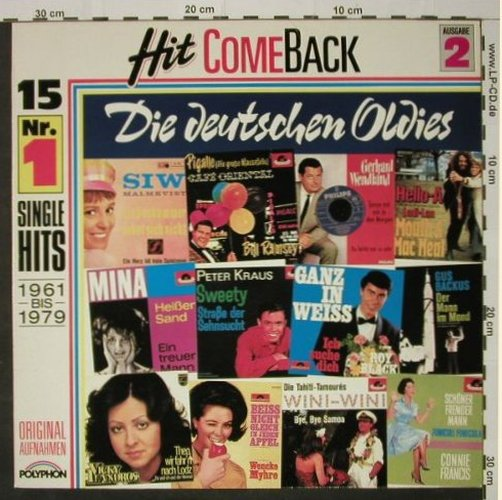 V.A.Hit Come Back: Die deutschen Oldies,61-79,Ausg.2, Polyphon(819 850-1), D,  - LP - C8400 - 4,00 Euro