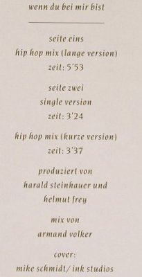 Nicki: Wenn Du Bei Mir Bist*3,Hip Hop Mix, Virgin(613 414-213), D, co, 1990 - 12inch - E1069 - 2,50 Euro