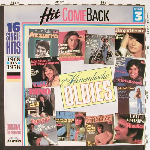 V.A.Hit Come Back: Himmlische Oldies Nr.3,1968-1978, Polyphon(837 456-1), D, 1978 - LP - E1260 - 4,00 Euro