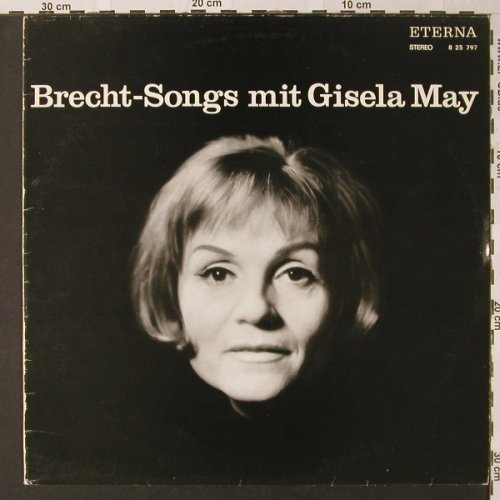 May,Gisela: Brecht songs mit, m-/vg+, Eterna(8 25 797), D, 1977 - LP - E8975 - 4,00 Euro