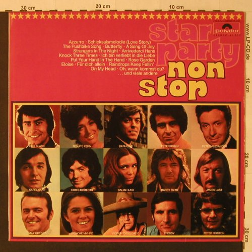 V.A.Star Party Non Stop: 28 Tr., Club-Ed. (Potpourri), Polydor(61 510), D, 1971 - LP - F4348 - 5,00 Euro