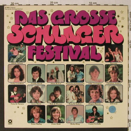 V.A.Das Grosse Schlagerfestival: Julie Covington..Freddy Breck,20Tr., Sonocord(27 063-7), D,  - LP - F4523 - 5,00 Euro