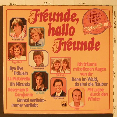 V.A.Freunde,Hallo Freunde: Peggy March...Chris Roberts,12 Tr., Ariola(25 878 XAT), D,  - LP - F4587 - 5,00 Euro