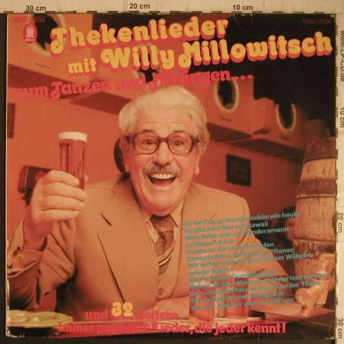 Millowitsch,Willy: Thekenlieder mit,Tanzen u.Mitsingen, Emi Odeon(062-31 926), D, 1976 - LP - F7330 - 5,00 Euro