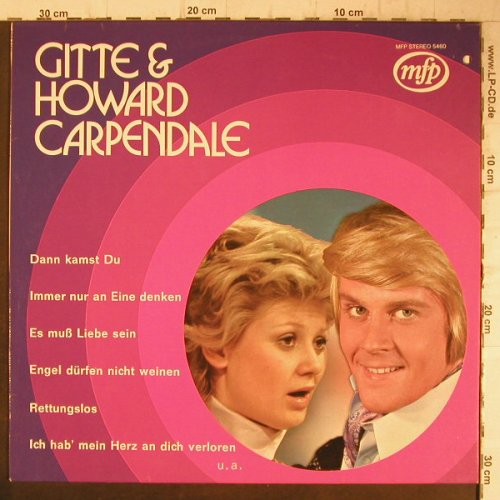 Gitte & Howard Carpendale: Same, co ( rundes Bild Cover), MFP(5460), D,  - LP - F8141 - 6,00 Euro