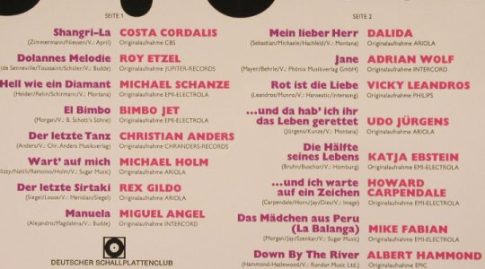 V.A.Top Hits Top Stars: Cordalis..A.Hammond, 16 Tr., DeutscherSchallpl.Club(27 023-1), D, 1976 - LP - F8405 - 4,00 Euro