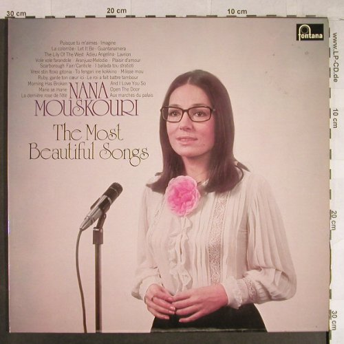 Mouskouri,Nana: The Most Beautiful Songs, Fontana(6620 102), D,  - 2LP - H1073 - 7,50 Euro