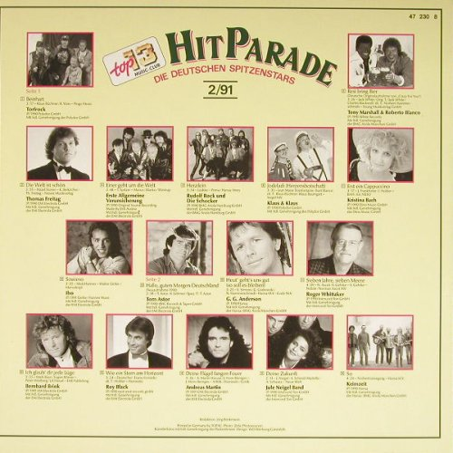 V.A.Top Hit Parade: Die deutschen Spitzenstars 2/91, top 13 music-club(47 230 8), D, 1991 - LP - H2158 - 4,00 Euro