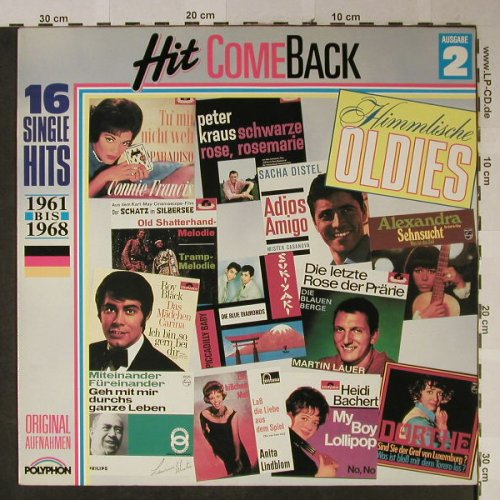 V.A.Hit Come Back: Himmlische Oldies Nr.2,1961-1968, Polyphon(837 455-1), D,  - LP - H2508 - 4,00 Euro