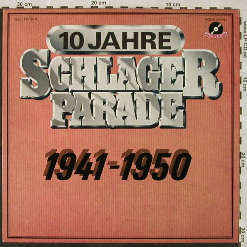 V.A.Schlagerparade-10Jahre-1941-50: 1950-Heinz Woezel...Evelyn Künneke, Polydor,Club Ed.(29 179 9), D, Mono,  - LP - H4946 - 4,00 Euro