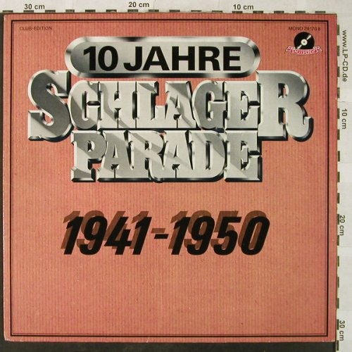 V.A.Schlagerparade-10Jahre-1941-50: 1941-Joh.Heesters...Heesters,woc, Polydor,Club Ed.(29 170 8), D, Mono,  - LP - H5323 - 4,00 Euro
