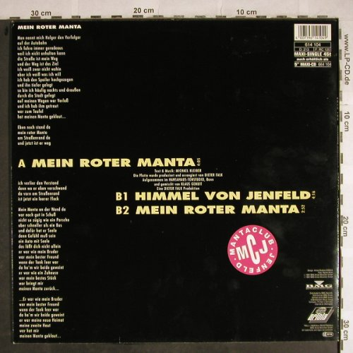 "Kleiber,Michael ""Holger"": Mein Roter Manta*2+1, Ariola(614 104), D, 1991 - 12inch - H8500 - 2,50 Euro"