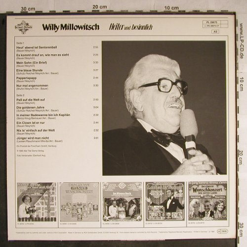 Millowitsch,Willy: Heiter und besinnlich, HörZu/Heimat-Melodie(PL 29675), D, 1982 - LP - H8827 - 5,00 Euro