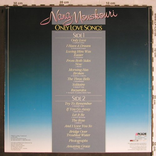 Mouskouri,Nana: Only Love Songs, Arcade Trent(ADEH 204), NL, 1986 - LP - H8874 - 5,00 Euro