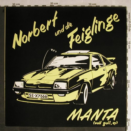 Norbert & die Feiglinge: Manta / Hallo Zoni+2, Glamour(M 90 003), D, 1990 - 12inch - H8893 - 3,00 Euro