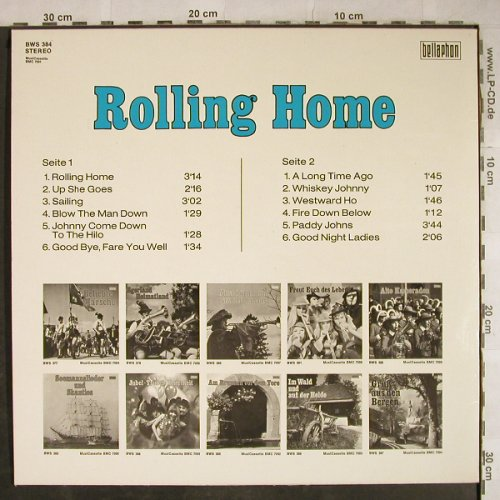 V.A.Rolling Home: 12 Tr., Bellaphon(BWS 384), D, 1973 - LP - H9211 - 4,00 Euro