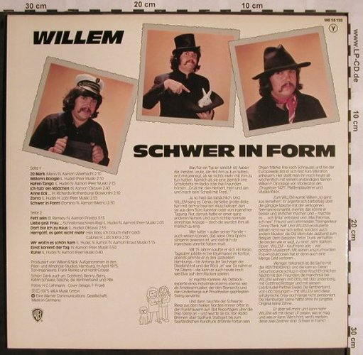 Willem: Schwer In Form, WB(WB 56 138), D, 1975 - LP - X1156 - 9,00 Euro