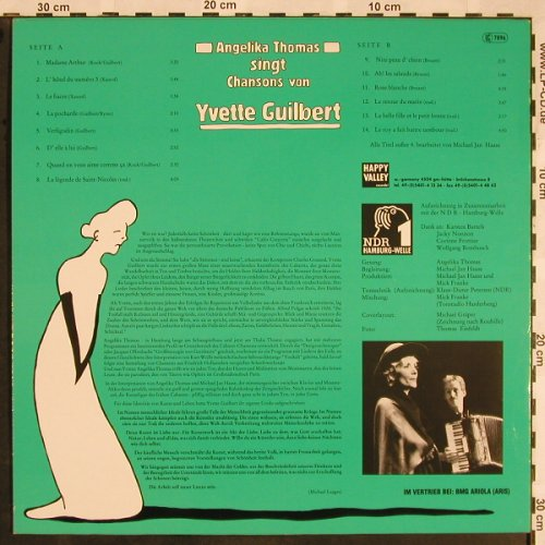 Thomas,Angelika: singt Chansons von Yvette Guilbert, Happy Valley/NDR 1(831 476), D,  - LP - X1236 - 12,50 Euro