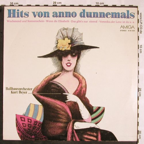 Beyer Ballhausorch.,Kurt: Hits von anno dunnemals, Amiga(8 55 534), DDR, 1977 - LP - X1352 - 5,00 Euro