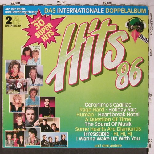 V.A.Hits'86: Das Internationale Doppelalbum,Foc, Ariola(302 818-503), D, 1986 - 2LP - X5412 - 5,00 Euro
