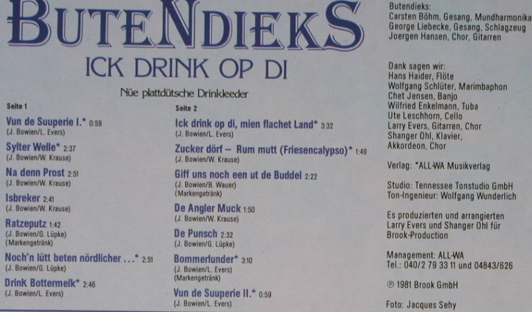 Butendieks: Ick Drink Op Di, Brook(0060.418), D, 1981 - LP - X5740 - 6,00 Euro