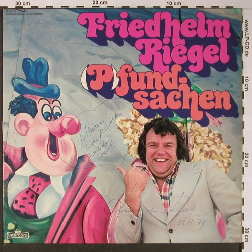 Riegel,Friedhelm: (P)fund-sachen, Widmung,signiert, Intercord(26 441-6), D, 1974 - LP - X5979 - 7,50 Euro