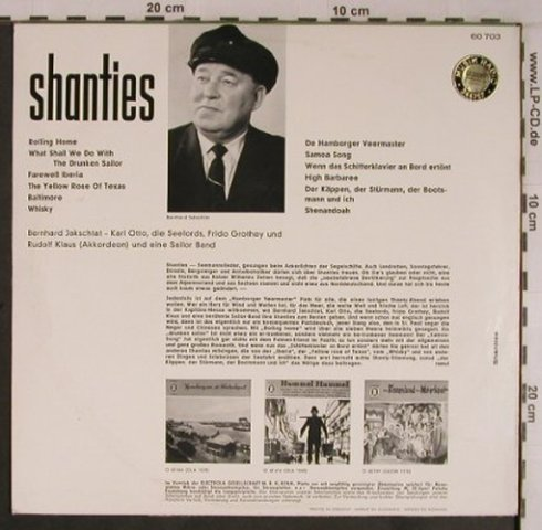 V.A.Shanties: Jakschtat,Otto,Grothey,Klaus,vg+/m-, Odeon,OLA 1052(O 60 703), D, Stereo,  - 10inch - X6865 - 9,00 Euro